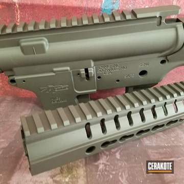 Cerakoted 50/50 Mix Of Mp Foliage Green And Sniper Grey