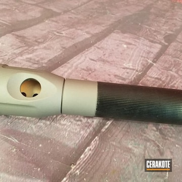 Cerakoted Flashlight Parts Cerakoted With H-170 Titanium
