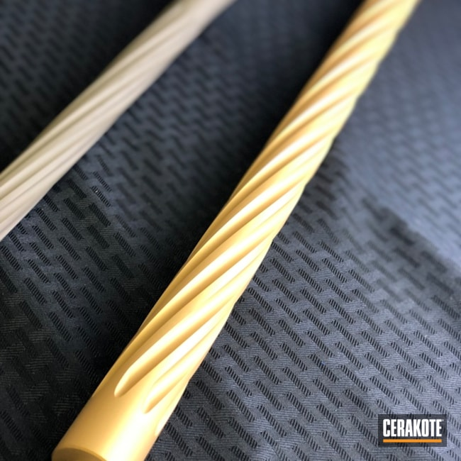 Cerakoted: S.H.O.T,Gun Coatings,Rifle Barrel,Gold H-122