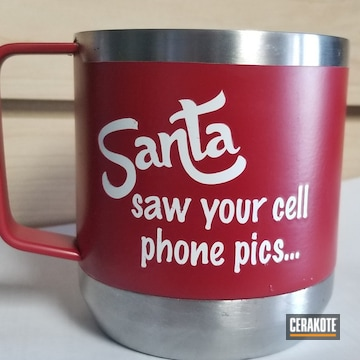 Cerakoted Custom Santa Themed Cup Cerakoted With H-306, H-297 And H-306