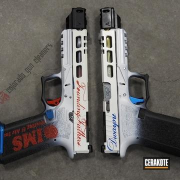 Cerakoted Custom P80 Handgun Cerakoted With H-146, H-140, H-171 And H-216