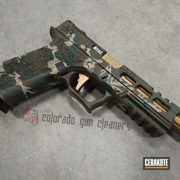 Cerakoted Classic Multicam P80 Handgun Cerakoted With H-146, H-267, H-226 And H-400