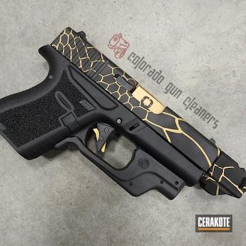Cerakoted Glock 43 Kryptek Cerakoted With H-146 And H-122
