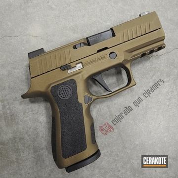 Cerakoted Sig Sauer P320 Cerakoted With H-146 And H-148