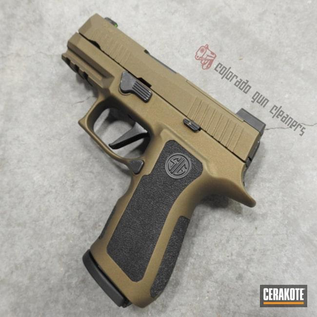 Cerakoted: SHOT,Sig Sauer P320,Graphite Black H-146,Two Tone,Burnt Bronze H-148,Pistol,Sig Sauer,Gun Coatings
