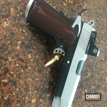 Cerakoted 1911 Two Tone Finish Cerakoted With H-147 And Hir-146