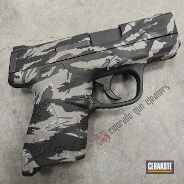 Cerakoted Tiger Stripe Camo S&w Handgun Cerakoted With H-146, H-213 And H-139