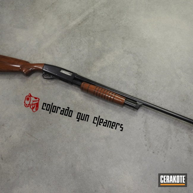Cerakoted: S.H.O.T,Shotgun,BLACKOUT E-100,Refinished,Gun Coatings,Before and After