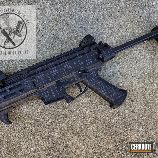 Cerakoted: S.H.O.T,CZ Scorpion Evo,CZ P10C,Matrix,CZ75 SP01,Matrix Theme,Graphite Black H-146,Bright Purple H-217,CZ-USA,Czech,CZ 75,CZ,Gun Coatings