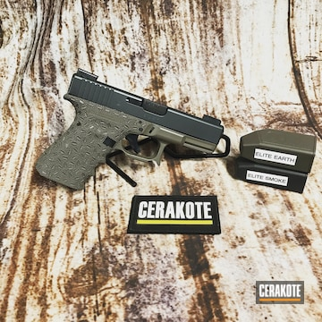 Cerakoted Two Toned Glock 23 Handgun Cerakoted With E-130 And E-120