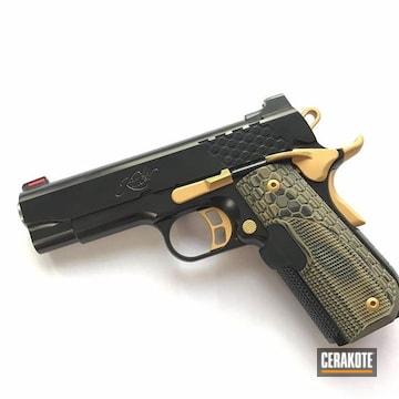Cerakoted Kimber Pro Handgun Cerakoted With H-146 And H-122