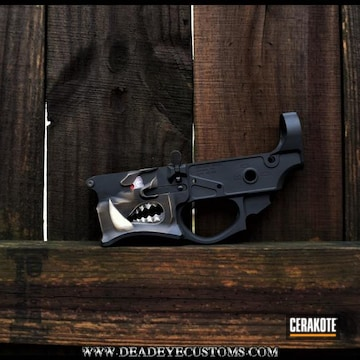 Cerakoted Sharps Brothers Warthog Lower Receiver Cerakoted With H-146, H-167, H-140, H-199, H-268 And H-269