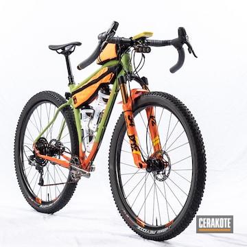 Cerakoted Custom Bike Frame Cerakoted With H-168 And H-128