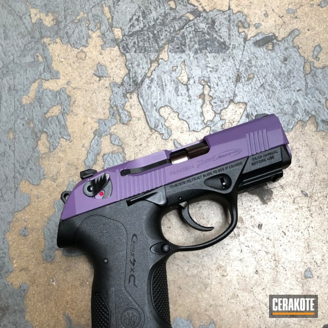Beretta PX4 Storm Cerakoted with H-217 Bright Purple