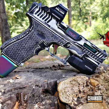 Cerakoted Custom Battleworn Glock Cerakoted With H-146 And H-297