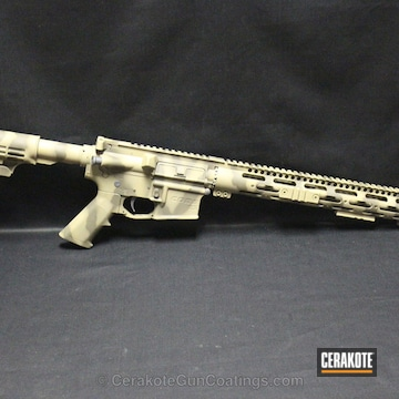 Cerakoted H-235 Coyote Tan With H-226 Patriot Brown And C-110 Micro Slick