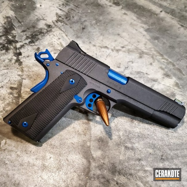Two Toned Kimber 1911 Cerakoted with H-112 and H-169