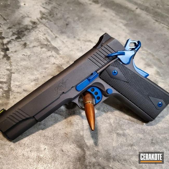 Cerakoted: S.H.O.T,10mm,Tactical Pistol,Kimber 1911,Kimber,Two Tone,Pistol,Gun Coatings,1911,Cobalt H-112,Bear Gun,Sky Blue H-169