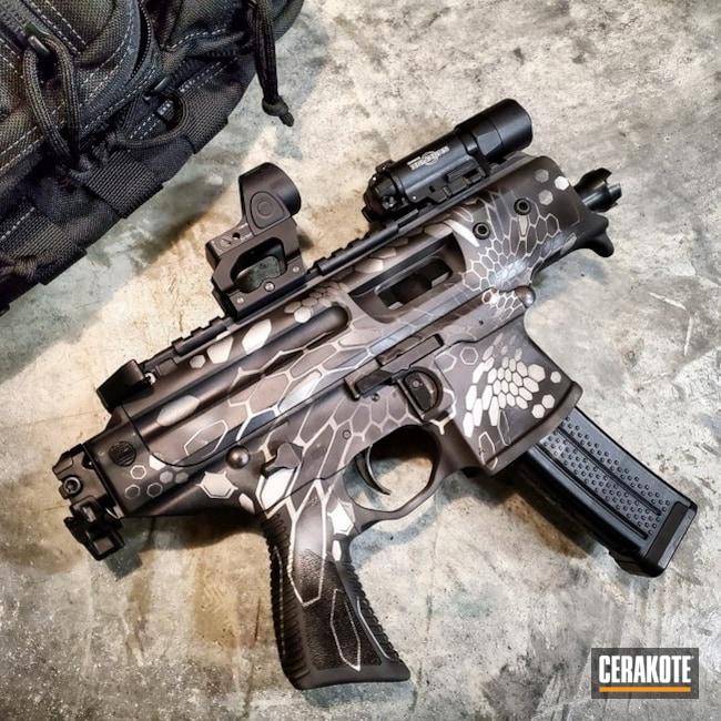 Cerakoted: S.H.O.T,MPX,Tactical Rifle,Sig Sauer,Urban Camo,Sig MPX,Cobalt H-112,9mm,Kryptek,Graphite Black H-146,Camo,Satin Aluminum H-151,Titanium H-170,Gun Coatings,SBR