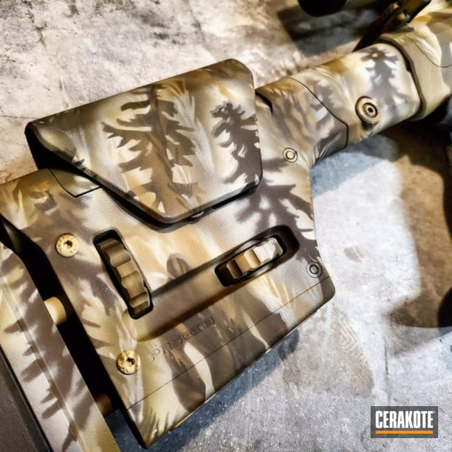 Cerakoted: S.H.O.T,Custom Mix,6.5 Creedmoor,Desert Sage H-247,MAGPUL® STEALTH GREY H-188,Tactical Rifle,Custom Camo,Hunting Rifle,YETI,AR-10,FS FIELD DRAB H-30118,Gun Coatings,Ghost Camo