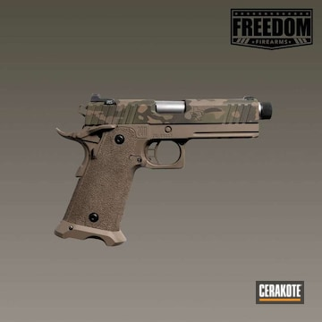 Cerakoted Sti Handgun Multicam Finish Cerakoted With H-267, H-226, H-189, H-236 And H-225
