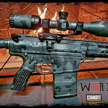 Cerakoted Custom Rifle Multicam Black Cerakoted With H-146, H-227 And H-234