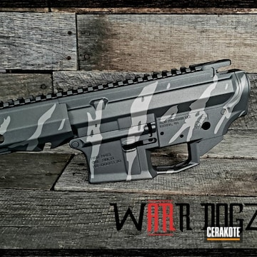 Cerakoted Tiger Stripe Finish Cerakoted With H-170 And H-237