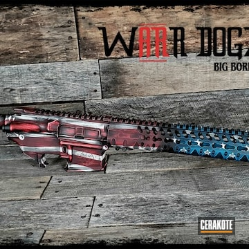 Cerakoted Ar-15 American Flag Finish Cerakoted With H-167, H-190, H-169 And H-297
