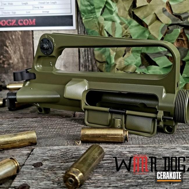 Cerakoted: S.H.O.T,Retro,Upper Receiver,Big Bore,Gun Coatings,Noveske Bazooka Green H-189,AR-15