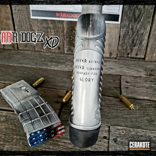 Cerakoted: SHOT,Battleworn,Battleworn Flag,Big Bore,Stormtrooper White H-297,USMC Red H-167,Tactical Rifle,HIGH GLOSS ARMOR CLEAR H-300,Gun Coatings,Freedom,Sky Blue H-169
