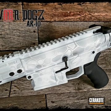 Cerakoted Ar .308 Snow Kryptek Finish Cerakoted With H-190, H-147, H-255, H-300 And H-297