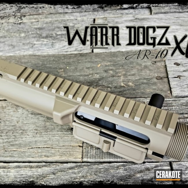 Cerakoted: S.H.O.T,6.5 Creedmoor,MAGPUL® FLAT DARK EARTH H-267,Upper Receiver,Graphite Black H-146,AR-10,Side Charger,Gun Coatings,AR 308