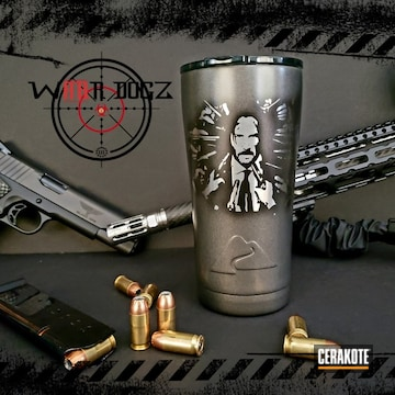 Cerakoted John Wick Themed Ozark Trail Tumbler Cerakoted With H-190, H-237 And H-300