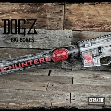 Cerakoted Matching Battleworn Rifle And Tumbler Finish Cerakoted With H-167, H-190, H-169, H-213 And H-297