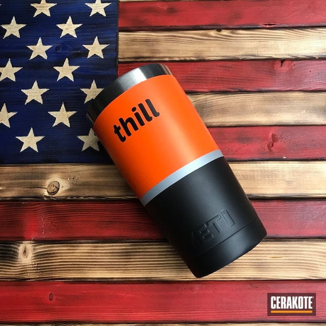 Custom YETI Cup Cerakoted with H-146, H-255, H-136 and H-128