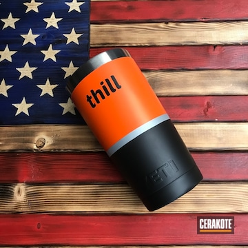Cerakoted Custom Yeti Cup Cerakoted With H-146, H-255, H-136 And H-128