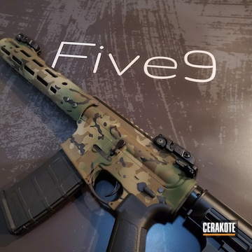 Cerakoted M81 Multicam Finish Cerakoted With H-146, H-267 And H-226
