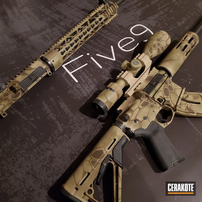 Cerakoted: S.H.O.T,Coyote Tan H-235,Kryptek,Desert Kryptek,Desert Sand H-199,Arid Kryptek,Patriot Brown H-226,Tactical Rifle,Arid,Gun Coatings