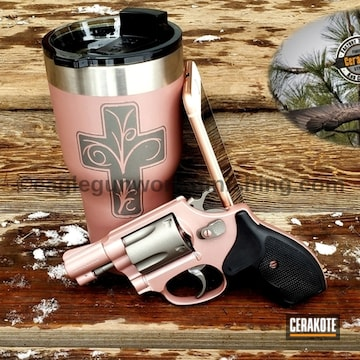 Cerakoted Matching S&w Revolver And Tumbler Cup Cerakoted With H-219 And H-327
