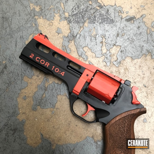 Chiappa Rhino Revolver Cerakoted with H-146, H-216, H-128, H-309 and H-318