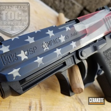Cerakoted American Flag Hk Usp Handgun Cerakoted With H-146, H-167, H-242 And H-127