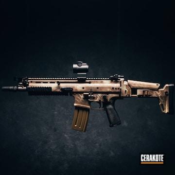 Cerakoted Kryptek Camo Fnh Scar 16s Rifle Cerakoted With H-199, H-226 And H-143