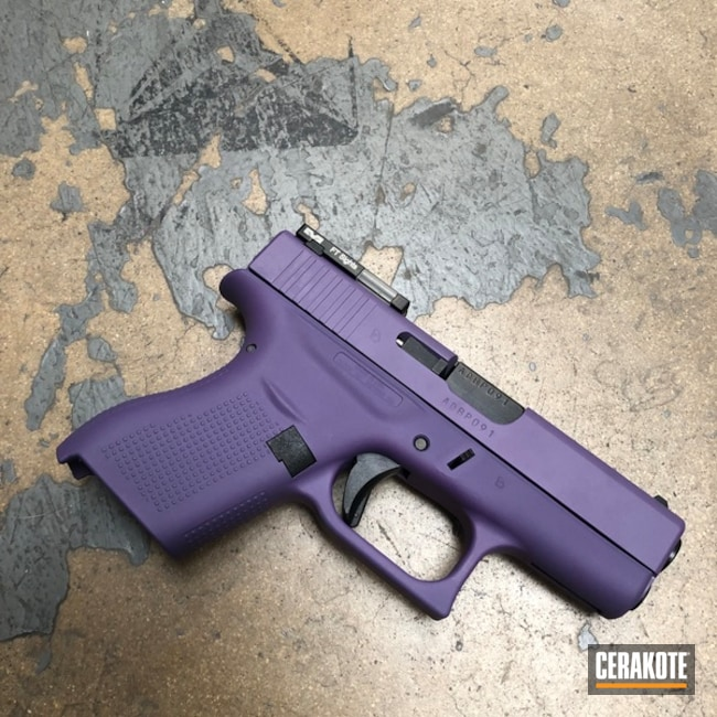 Glock 42 Handgun Cerakoted with H-217