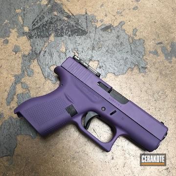 Cerakoted Glock 42 Handgun Cerakoted With H-217