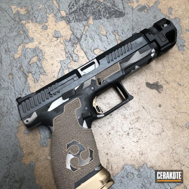 Cerakoted: S.H.O.T,Shatter Camo,CZ P10C,Stippled,Armor Black H-190,Pistol,Hand Stippled,Tactical Grey H-227,Defkon3,Satin Aluminum H-151,CZ,Fractured Camo,Gun Coatings,Handguns