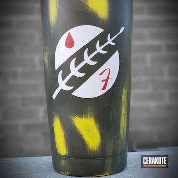 Cerakoted Star Wars Mandalorian Themed Tumbler Cerakoted With H-146, H-144, H-216, H-240 And H-297