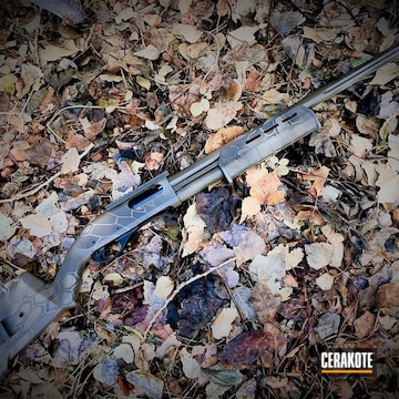 Cerakoted Remington 870 Shotgun Cerakoted With H-265, H-199, H-226 And H-240