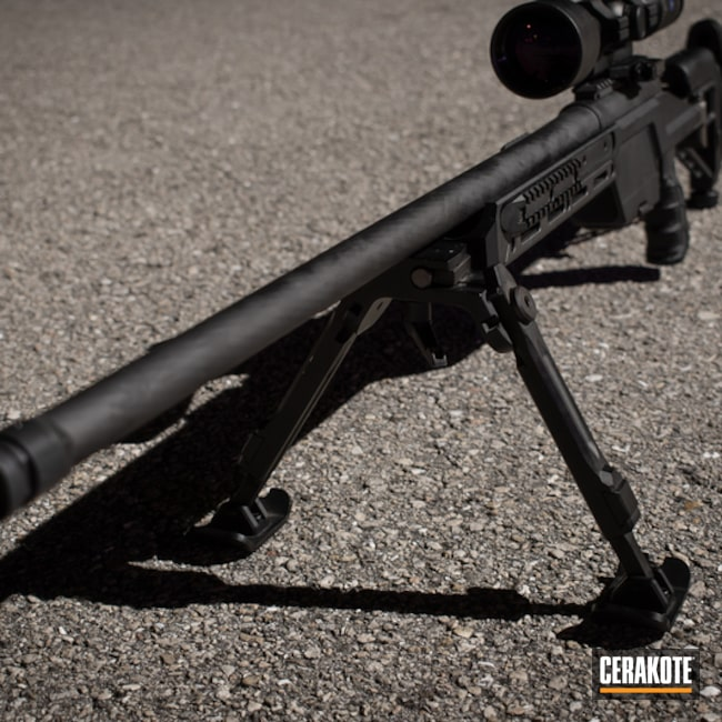 Cerakoted: S.H.O.T,Bolt Action Rifle,Graphite Black H-146,Precision,Solid Tone,Tactical Rifle,Gun Coatings,Steyr