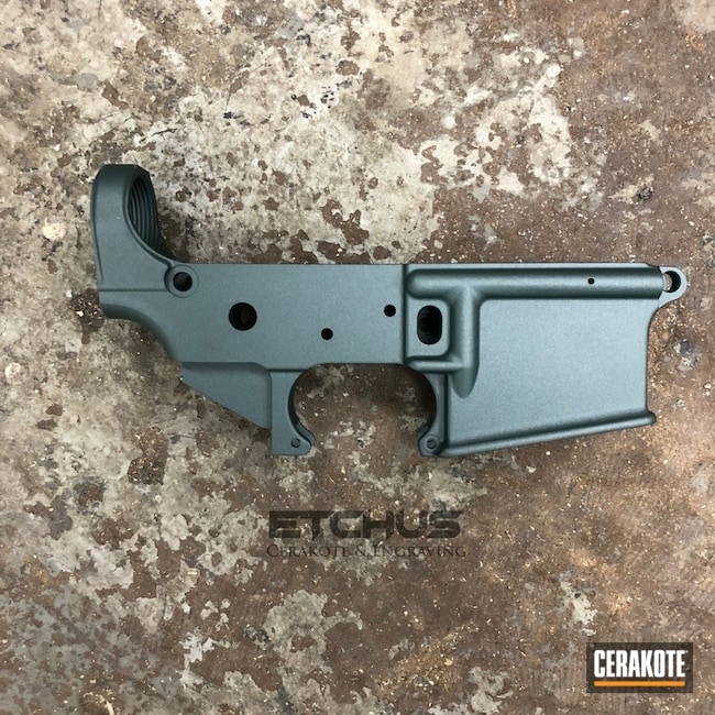 Cerakoted: S.H.O.T,AR Lower Receiver,Lower,Anderson Mfg.,CHARCOAL GREEN H-338,AR-15 Lower,Gun Coatings,Solid Color