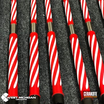 Cerakoted Holiday Themed Fluted Barrels Cerakoted With H-167 And H-297
